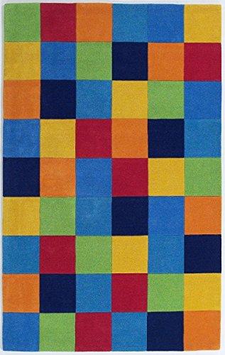 Kas Rugs KAS Oriental Rugs Kidding Around Collection Boys Color Blocks Area Rug, 3'3