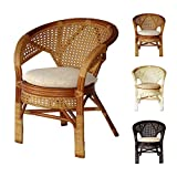 Cheap Pelangi Handmade Rattan Dining Wicker Chair W/cushion Colonial (Light Brown)