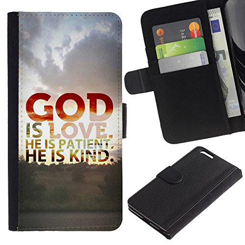"EuroCase - Apple Iphone 6 PLUS 5.5 - ""GOD IS LOVE - Cuir PU Coverture Shell Armure Coque Coq Cas Etui Housse Case Cover"