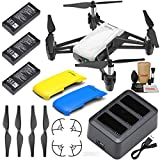 Tello Drone Quadcopter Boost Combo with 3 Batteries, Charging Hub, Yellow & Blue Snap-On Covers and More