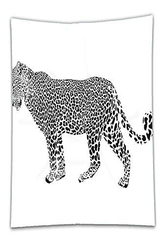 Ball Pen Jaguar Roller - Beshowereb Fleece Throw Blanket Decor Collection Jaguar Leopard Hunter Predator Pose SpotCamouflage Design Fashionable Design Print Bedroom Living Room Dorm Black and White.jpg