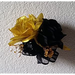 Black Gold Rose Corsage or Boutonniere 67