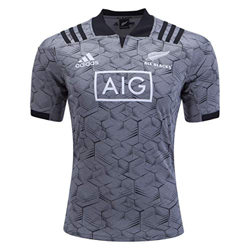 All Blacks Rugby Jersey - adidas All Blacks Training Rugby Jersey, Grey, Medium
