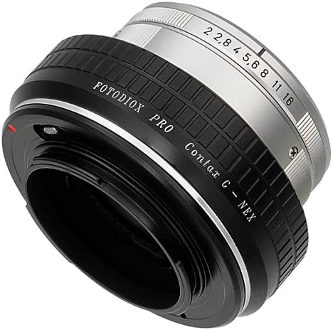 Fotodiox Pro Lens Mount Adapter Compatible with Select Contax G Lenses to Sony E-Mount Cameras