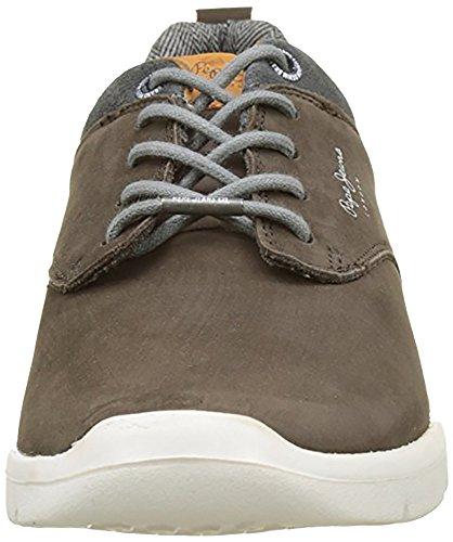 Sneakers Brown Bleu Jeans Nubuck Homme Pepe Basses Jayden qt8UxwF