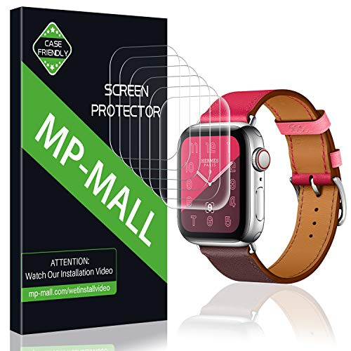 MP-MALL [6-Pack] Screen Protector for Apple Watch 40mm / 38mm (Series 4/3/2/1 Compatible), Anti-Bubble Liquid Skin Screen Protector Flexible Film, Lifetime Replacement Warranty