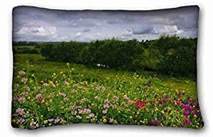 Custom Nature Custom Cotton & Polyester Soft Rectangle Pillow Case Cover 20x30 inches (One Side) suitable for Full-bed