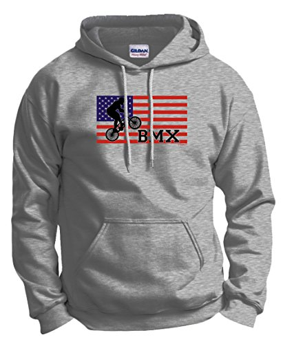 BMX Tires American Pride Cycling BMX Bikes Hoodie Sweatshirt 3XL Ash (Fat Tire Hoodie compare prices)