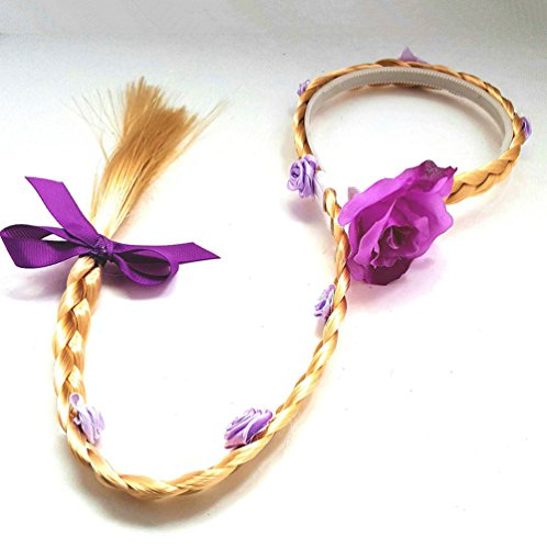 Princess Rapunzel Wig Rapunzel Braid Long Hair Wig with Braid Gloves Dress up Accessories for Girls  - http://coolthings.us