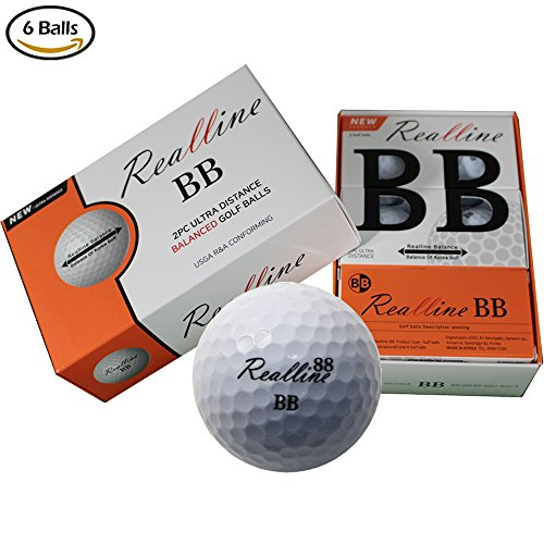 (Extreme Ultimate Distance Golf Balls for Driver Iron and Accuracy Balance Aligned Golf Ball for Putt Alignment Precision Putting Green Side Control - USGA R&A Rule Conforming - 6 Count (White))
