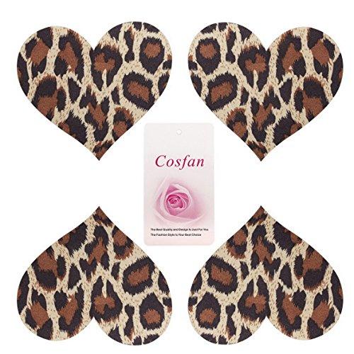 Cosfan - Pezoneras - Corsé - para mujer 10 Pairs Heart