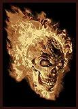 Cheap United Weavers Legends Area Rug 910-02130 Flaming Skull Black Skulls Fire 5′ 3″ x 7′ 2″ Rectangle