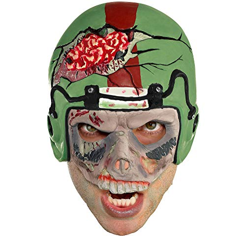 Zombie Football Player Halloween Mask, One Size, by Amscan -