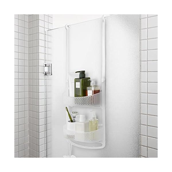 512udLBqrtL Amazon Basics - Duschregal mit ausziehbaren Armen, Weiß