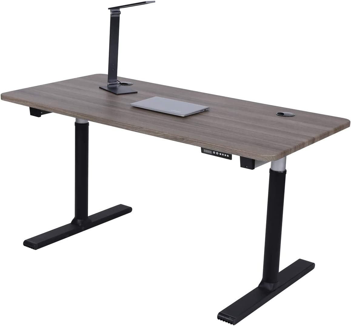 ApexDesk Vortex Series 60 6-Button Electric Height Adjustable Sit to Stand Desk Memory Controller, Fox Teakwood Top