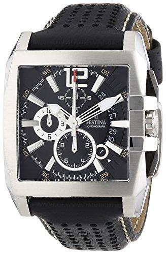 Festina Herren-Armbanduhr TIMELESS Chronograph Quarz Leder F16363-5