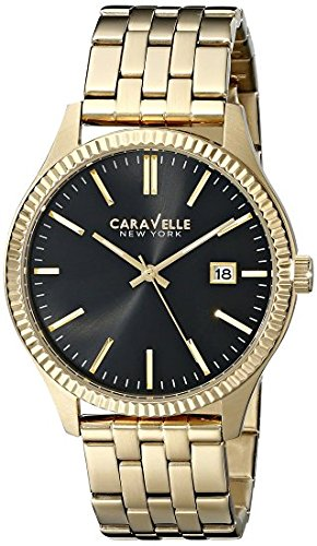 Caravelle New York Men's 44B105 Analog Display Japanese Quartz Yellow Watch