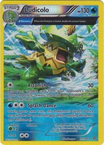 Ludicolo 37//160 Reverse Holo Rare XY Primal Clash Pokemon