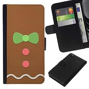 Planetar® Modelo colorido cuero carpeta tirón caso cubierta piel Holster Funda protección Para HTC DESIRE 816 ( Hombre Bowtie rosa verde de Navidad)