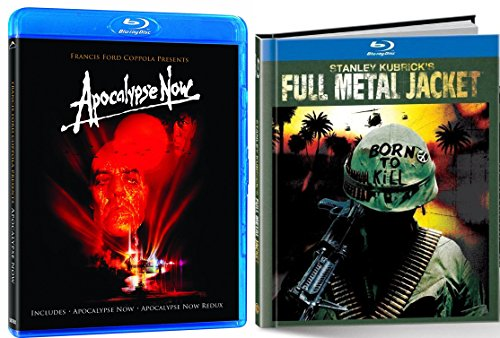 Apocalypse Now + Full Metal Jacket Blu Ray Digibook 2 Pack War Movie Action Set (Apocalypse Now / Apocalypse Now: Redux)