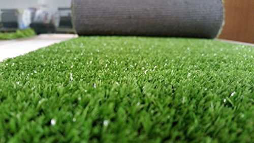 Review PZG Artificial Grass Rug w/ Drainage Holes & Rubber Backing   2-Tone Realistic Synthetic Grass Mat   Extra-Heavy & Soft Pet Turf   Lead-Free Fake Grass for Dogs or Outdoor Decor   Size: 12′ x 6′