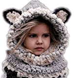 Baby Hats and Scarf,amazingdeal Kids Cat Fox Ear Winter Windproof Hat Set