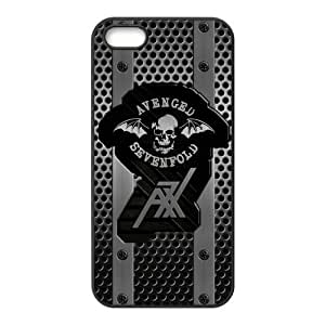 Protective TPU Rubber Coated Phone Case for iPhone 5S / iPhone 5 - A7X Avenged Sevenfold