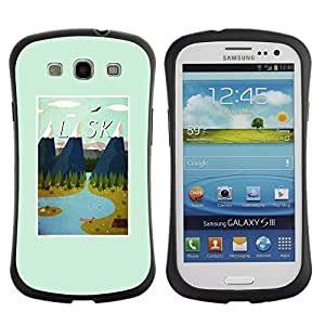 """Pulsar iFace Series Tpu silicona Carcasa Funda Case para SAMSUNG Galaxy S3 III / i9300 / i747 , Estado montañas de invierno impresiones Usa"""""""