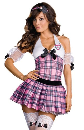Holloween Costumes Woman (Sexy Sassy High School Girl Costume - Womens Small 2-6)