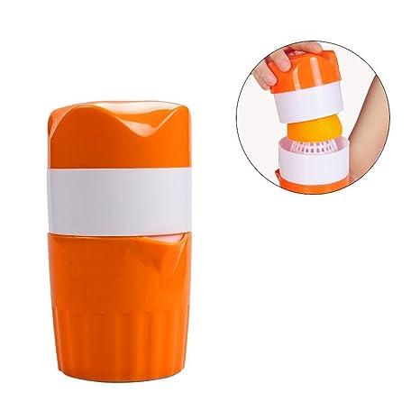 Manual portátil prensa exprimidor naranja cítricos mano exprimidor Mini mano potencia fruta exprimidor herramienta con tamiz