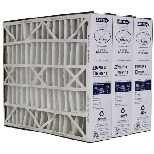 Trion Air Bear 255649-102 Replacement Filter - 20x25x5, Three Per Box