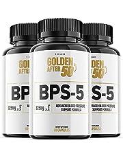 BPS-5 for Blood Pressure Pills BPS5 Golden After 50 Supplement Pills (3 Pack)