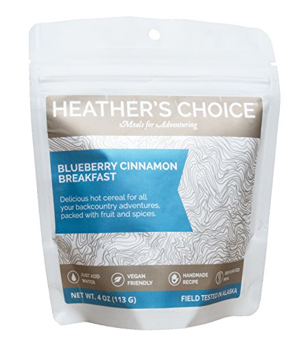 (Heather's Choice Dehydrated Paleo Meals Healthy High Protein Camping Breakfasts Lightweight for Backpacking or Hiking, Gluten Free Buckwheat and Coconut (Blueberry Buckwheat 3 Pack))