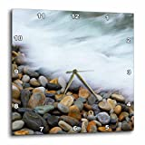 3D Rose Waves Breaking on Pebbles-Tsitsikamma NP-Western Cape-South Africa Wall Clock, 10'' x 10''