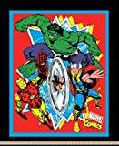 Marvel 65602-A62C831 Retro Comics No Sew Fleece Throw Kit, Multi