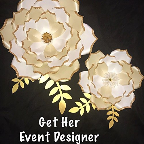 Amazon Com Cream Gold Paper Flower Handmade
