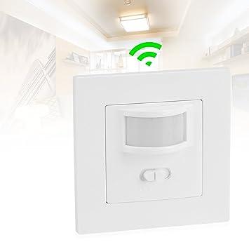 PIR sensor de movimiento interruptor de la luz interruptor ON/APAGADO automático Detector de movimiento PIR Sensor de movimiento ajustable Interruptor de ...