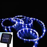 Solar Rope Lights, EONANT 39ft/12M 100LED Waterproof Copper Tube Wire String Lights for Garden,Yard, Path, Fence, Stairs, Backyard, Patio Decorative (Blue)