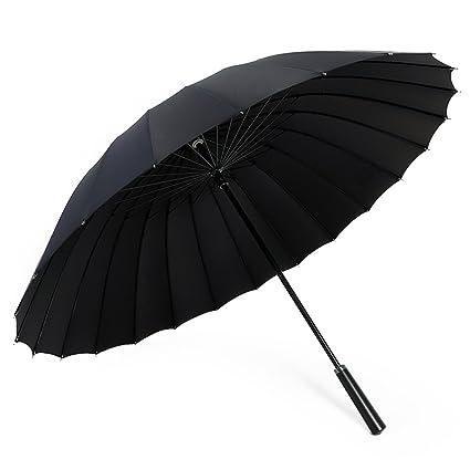 Long Handle Business Increase 24 Paraguas Óseo Fortalecer Diseño A Prueba De Viento Paraguas Familiar Mango