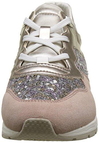 Geox Damen D Shahira B Sneaker Beige (rosa Antico / Argento)