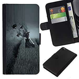 All Phone Most Case / Oferta Especial Cáscara Funda de cuero Monedero Cubierta de proteccion Caso / Wallet Case for HTC DESIRE 816 // dark side pole vorony devushka
