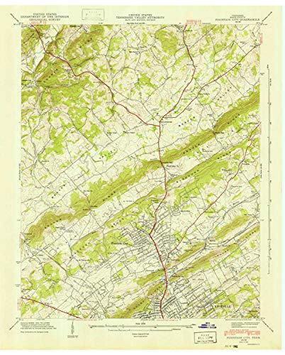 1941 City Map - YellowMaps Fountain City TN topo map, 1:24000 Scale, 7.5 X 7.5 Minute, Historical, 1941, 27.4 x 22.1 in - Tyvek