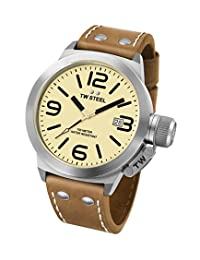 TW Steel Men's CS11 Analog Display Quartz Brown Watch