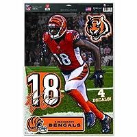 "NFL Cincinnati Bengals A.J. Green Multi-Use Decal Sheet, 11""x17"", Team Color"
