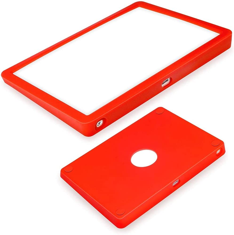 WESAPPINC Ultra Thin Silicone case for Apple Magic Trackpad 2 Wireless Touchpad Protective Cover,Anti-dust and Anti-Scratch Wear-Resistant Carrying Silicone Skin Bag (Red)