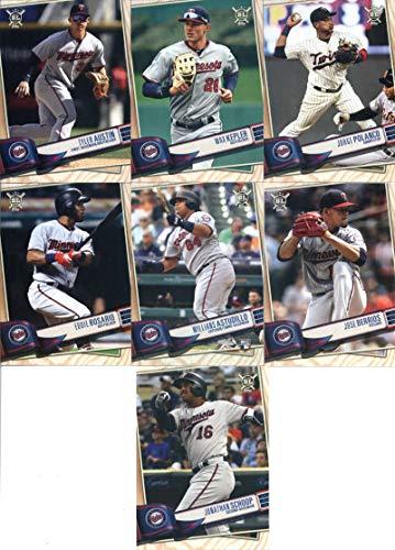 2019 Topps Big League Baseball Minnesota Twins Team Set of 13 Cards: Jake Cave(#9), C.J. Cron(#11), Miguel Sano(#31), Kyle Gibson(#38), Ehire Adrianza(#110), Mitch Garver(#115), Jonathan Schoop(#131), Jose Berrios(#154), Willians Astudillo(#247), Eddie Rosario(#273), Jorge Polanco(#315), Max Kepler(#323), Tyler Austin(#336) ()