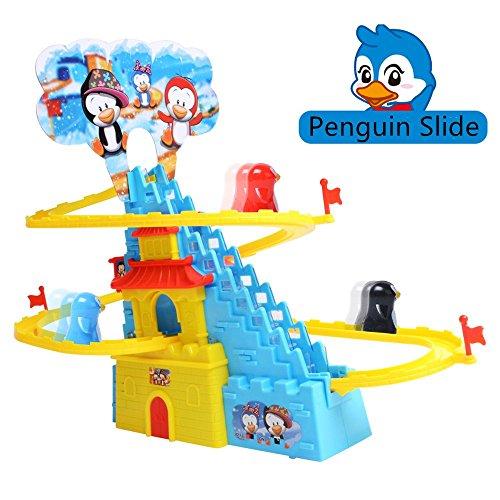 Aminiture Fun Playful Penguin Slide Race Set (Penguin (Playful Penguin Race)