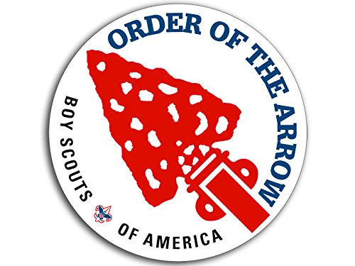 American Vinyl ROUND Boy Scouts ORDER OF THE ARROW Insignia Sticker (logo emblem scouting)
