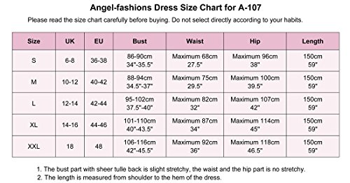 Sweep Aprikose Angel in fashions Aprikose Damen Ballkleid Lange Perlen voller Mermaid Spitze nBUfBPYqw