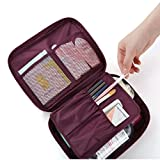 Travel Cosmetic Makeup Bag Organizer Storage Pouch Handbag Muranba (Red)
